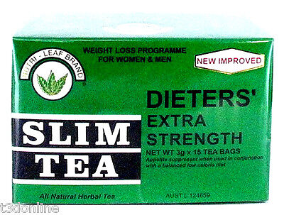 Nutri Leaf Tea Dieters Slim Tea Extra Strength for Weight Loss Diet 15 Bags