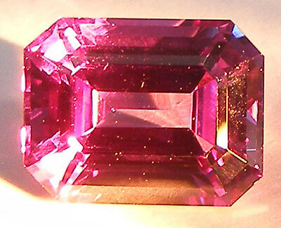 EXCELLENT ASSCHER CUT 9x7 MM. COLOUR CHANGE ALEXANDRITE SIMULATED GEM
