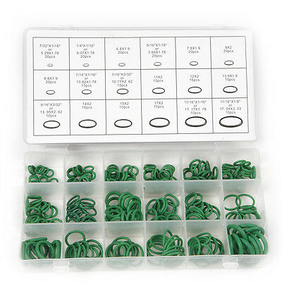 270pcs A/C (Air Conditioning) Green Rubber Oring Assortment Mixed 18 Sizes