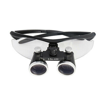 3.5x420mm Dental Loupes Surgical Binocular Loupe Magnifying Glasses Black