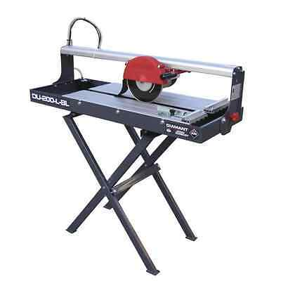 Rubi DU-200-L Bridge Wet Saw + Stand 230v 25973K 600mm Cut Tile Saw