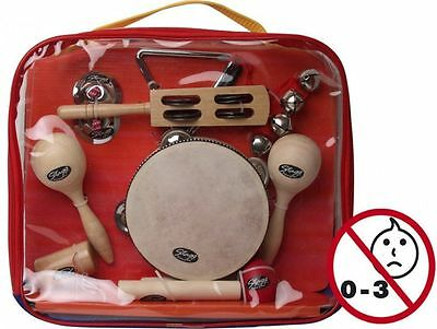 Stagg Children's Percussion Music Kit Triangle Claves Maracas Cymbals CPK01 New