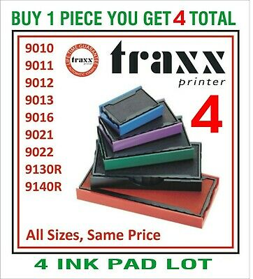 Traxx Rubber Stamp Replacement Ink pads RED BLUE BLACK GREEN PURPLE Garage Car
