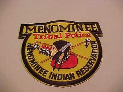 MENOMINEE  WISCONSIN TRIBAL POLICE PATCH IN YELLOW FREE SHIP IN USA