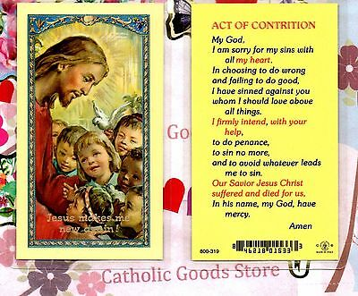 An Act of Contrition Prayer - Laminated Holy Card