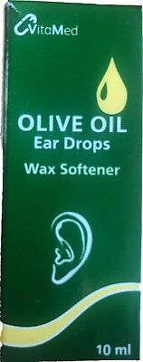 Olive Oil Ear Drops 10ml- With Extra Virgin Olive Oil, Soften,Remove Ear Wax