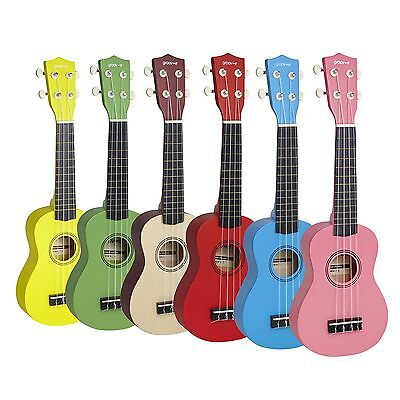 New Groov-e Traditional Soprano Ukulele Basswood + Case/Bag GVMI10 **6 COLOURS**