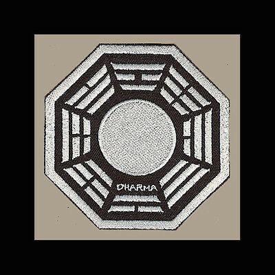 """LOST Dharma Initiative Embroidered patch """"Pearl"""" (White)"""