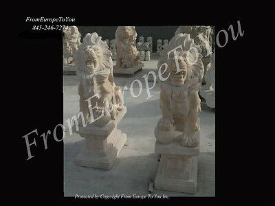 Hand Carved Marble Sunshnne Marble Lions Lion3