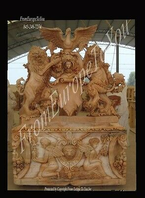 Great Hand Carved Marble Lion Fountain L102