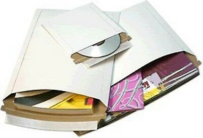 50 pcs 6 X 6 White Cardboard Mailers Self Seal Adhesive Flap CD & DVD