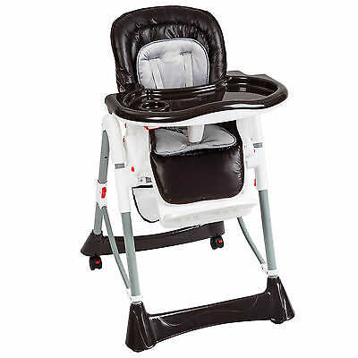 Foldable Baby High Chair Recline Highchair Height Adjustable Feeding Seat New