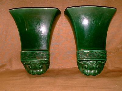 Vintage Classic by Claire Lerner of California Wall Pocket Pair-L-125-1950-Green