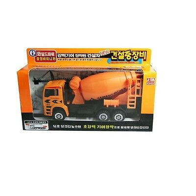 Cement Mixer Truck Power Car Construction Die-cast Metal Miniature Scale 1:50