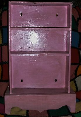 Antique Vintage Old Tin Wood Childs Cupboard Toy Dishes Primitive Spice Rack !!!
