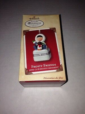 2002 Hallmark Frosty Friends Ornament Club Porcelain Box KOC Keepsake PHB KOCC