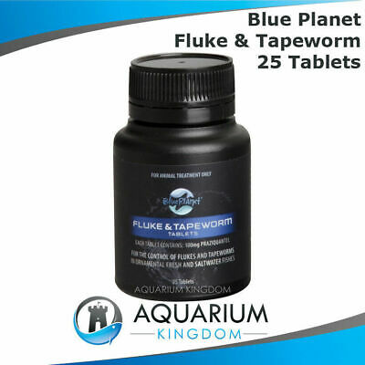 Blue Planet Fluke & Tapeworm Tablets 25pk - 25 Tabs - Fish Medication Tape Worm