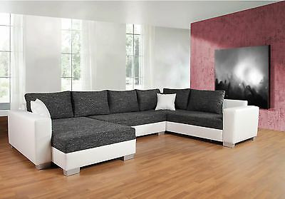 garnitur sofa sitzecke ecksofa schlafsofa wohnlandschaft grau wei 24392 eur. Black Bedroom Furniture Sets. Home Design Ideas