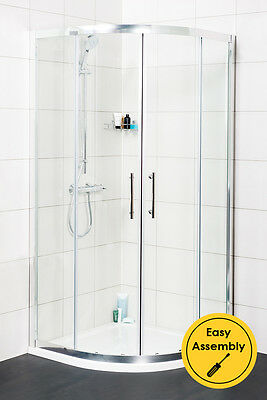 NEW 900mm Easy Clean Quadrant Glass Shower Enclosure Cubicle + FREE Tray + Waste