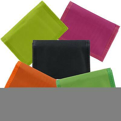 NEW Mens Ladies Canvas NEON TriFold Wallet Slim Teens Summer Unisex VALUE
