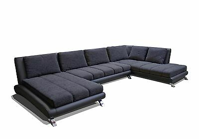 Sofa Couchgarnitur Ecksofa Sofagarnitur Sofa ONTARIO links U Wohnlandschaft