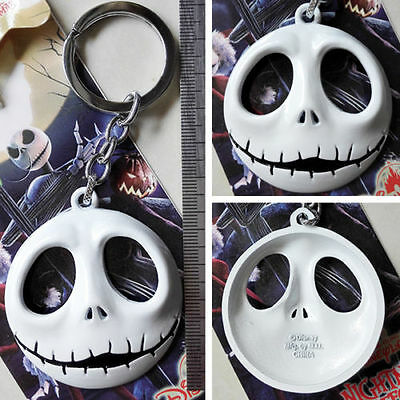 Hot The Nightmare Before Christmas Pumpkin Prince Jack Face Metal Key chain ring