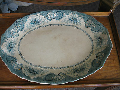 New Wharf  Flow Blue Large Platter 16 inch Platter
