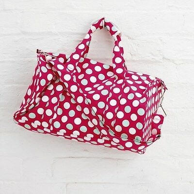 5 x Job Lot Red Spotty Canvas Sports Swimming Gym Bag By Katz Dancewear PP7P