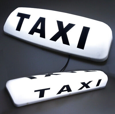 """24"""" Led Magnetic Taxi Roof Sign Light White  Taxi Meter Top Sign Cab Light"""