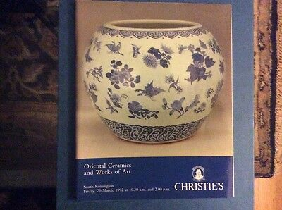 Christie's Oriental Ceramics and Works of Art, March 1992