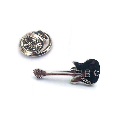Silver Guitar Music Lapel Pin Badge Rock Band Guitars Musical Musician Gift New