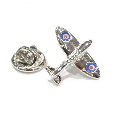 Silver Plated Spitfire Lapel Pin Badge Aeroplane Plane RAF Pilot Badges Gift New
