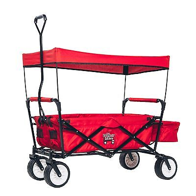 Red Folding Wagon With Canopy