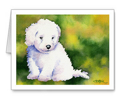 BICHON FRISE PUPPY Set of 10 Note Cards With Envelopes