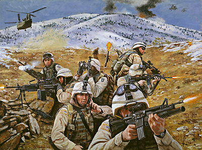 """""""Brothers in Battle"""" Don Stivers Signed Artist Proof Print - Operation Anaconda"""