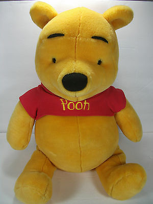 "Fisher Price Large 20"" Sitting Pooh Bear Very HTF Great Gift! B8"
