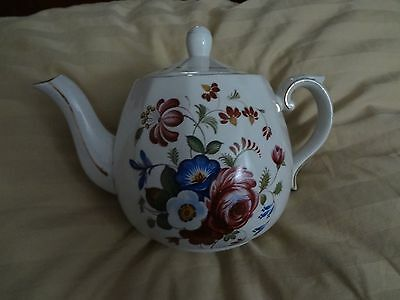 ELLGREAVE WOOD & SONS ENGLAND TEAPOT, GENUINE IRONSTONE, RALPH MOSES ENOCH - GUC
