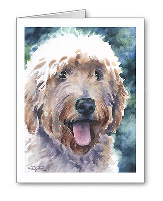GOLDENDOODLE Set of 10 Note Cards With Envelopes