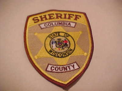 COLUMBIA  COUNTY  WISCONSIN  POLICE PATCH *** FREE SHIP IN USA **