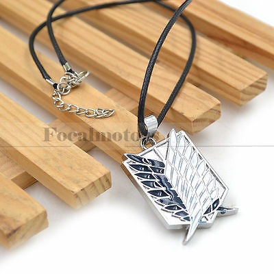 Anime Attack On Titan Necklace Scouting Legion Pendant Cosplay Shingeki no Kyoji