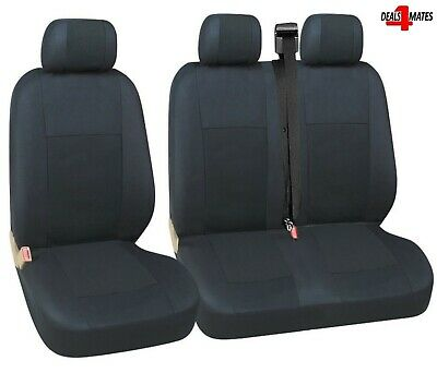 Vw Transporter T4 92-03 Seat Covers Black Quality Fabric