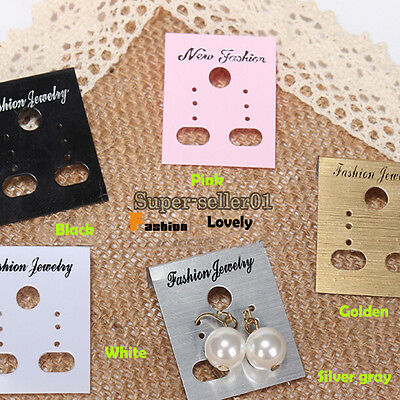 Collection Plastic Earring Studs Display Hang Cards 3x4cm Jewelry Hanging Holder