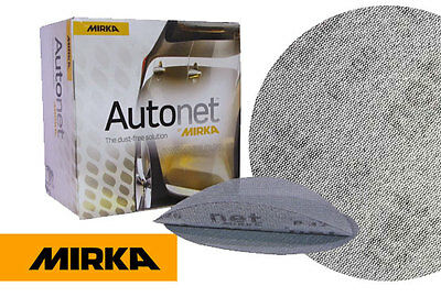 Mirka Autonet 150mm Sanding Discs P80  Grit Pack of 50 - UK Delivery
