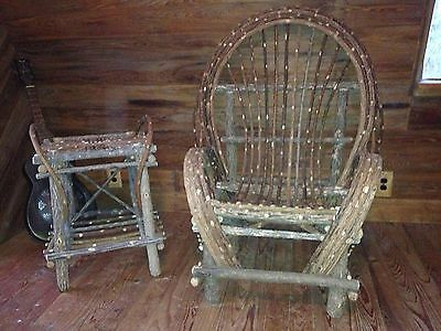 Hand crafted willow/twig chair