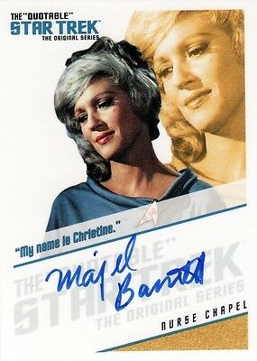 Star Trek ToS Quotable Majel Barrett QA6 Auto Card