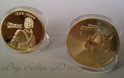 Michael Jackson - The King of Pop Music Gold Plated Coin - Souvenir Collection