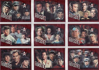 Star Trek 35th Anniversary Ultra Rare MorFex Error 9 Card Set