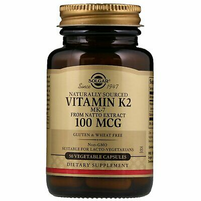 Solgar, Natural Vitamin K2, 100 mcg, 50 Vegetable Capsules