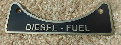 Diesel Fuel Filler Cap Neck Warning Metal Badge 502951 Land Rover Series 2 2a 3