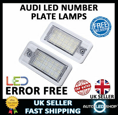 Upgrade White Led Number License Plate Light Units Lamps Audi A4 B6 01-05 Canbus